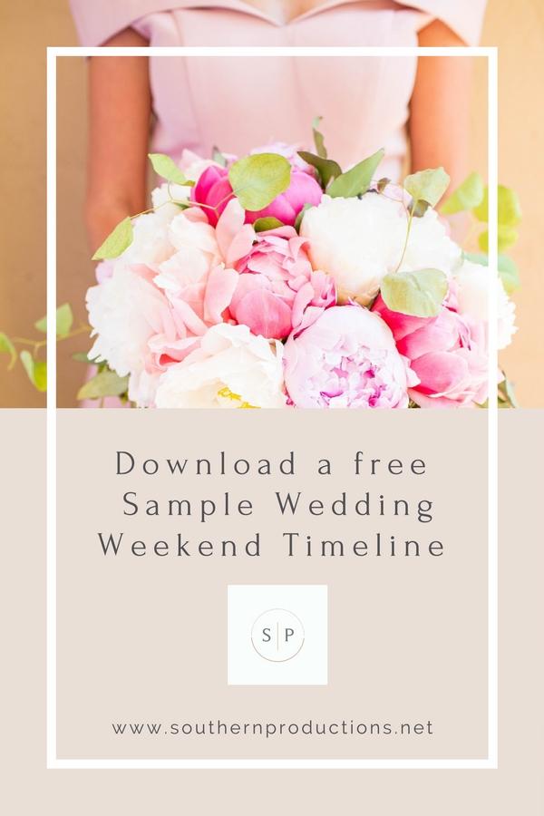 Free Download Sample Wedding Weekend Timeline