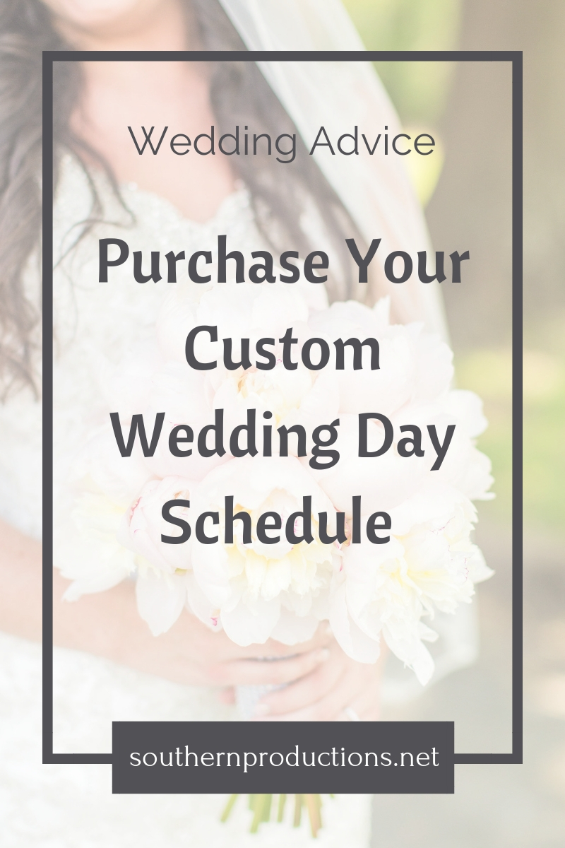 Purchase Your Custom Wedding Day Schedule