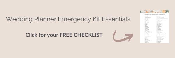 Wedding Planner Emergency Kit