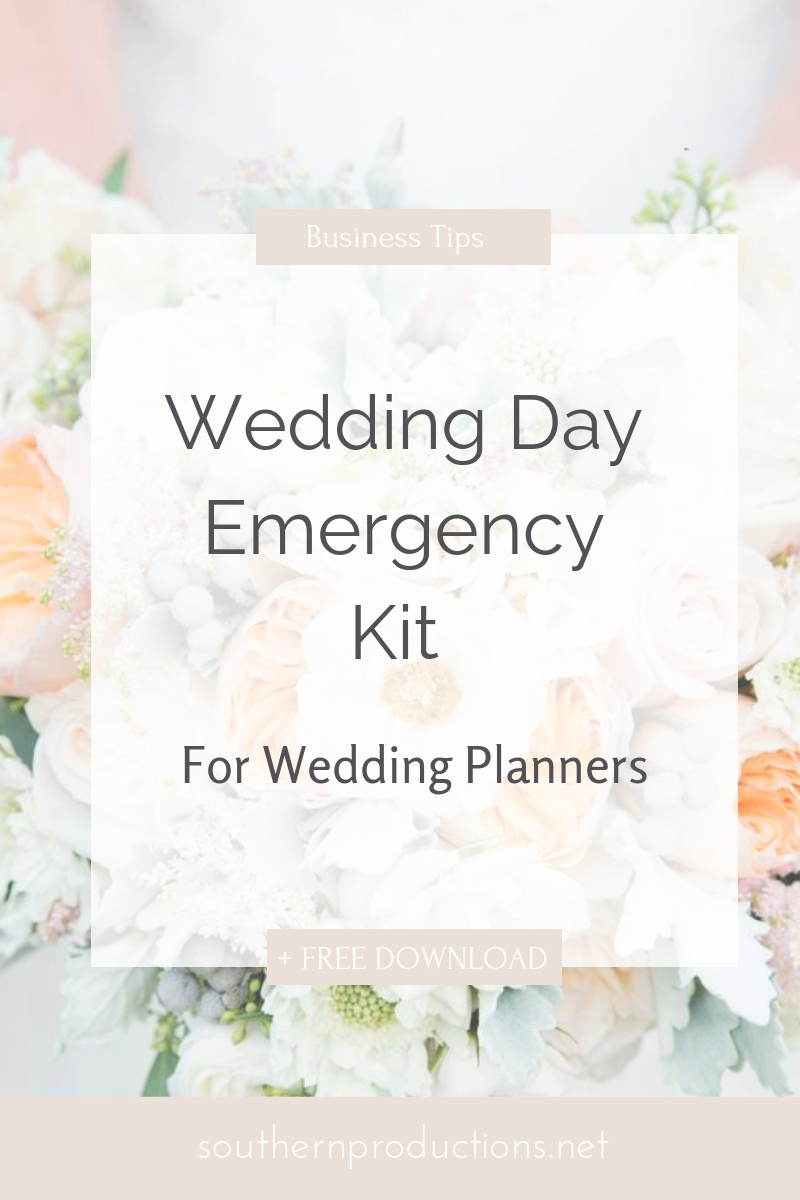 Wedding Day Emergency Kit for Wedding Planners