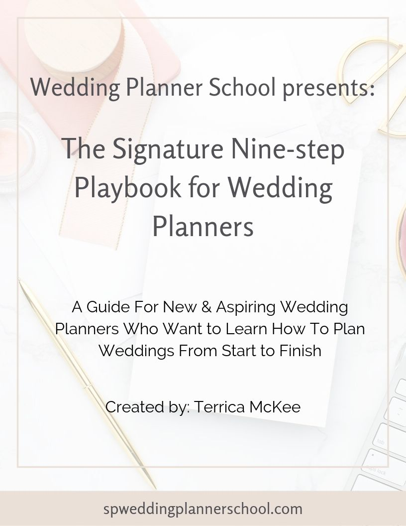 The Signature Nine-step Playbook For Wedding Planners