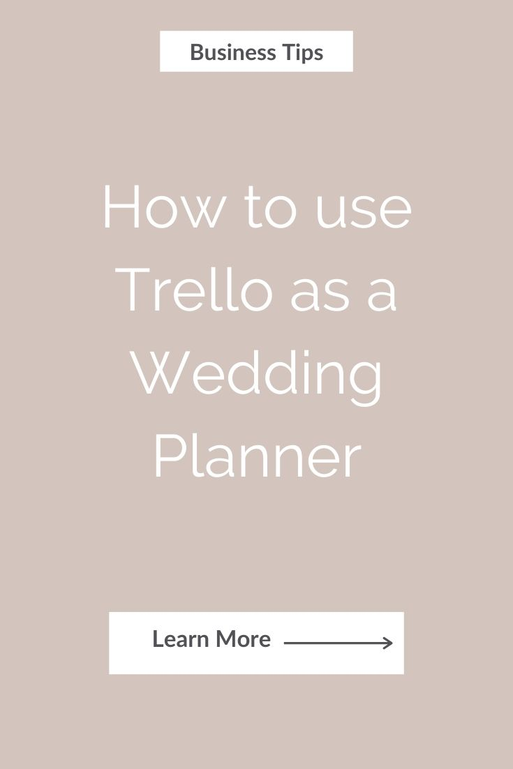 How to use Trello as a Wedding Planner
