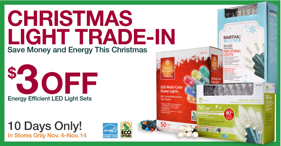 Home Depot: Christmas Lights Trade In :: Southern Savers