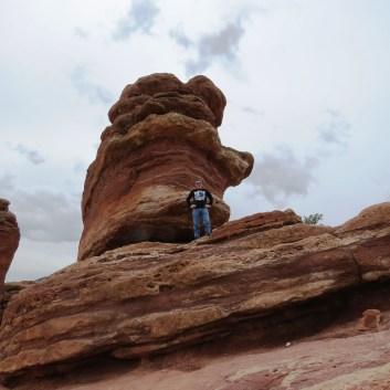 David on Balanced Rock