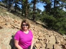 sitting on the rockslide