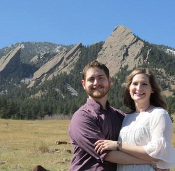Rachel & Beau -engagement pic