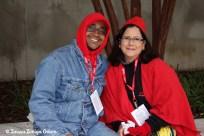 DJ Ivan Correa with Fiesta board member, Elisa Gonzalez Rubio of Coca Cola Bottling