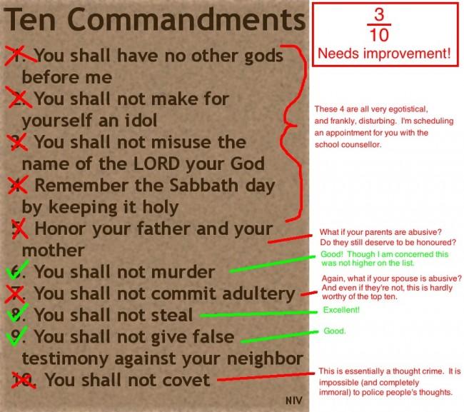The 10 Commandments Suck
