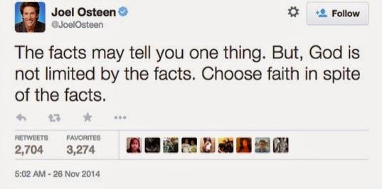 Joel Osteen Faith Tweet