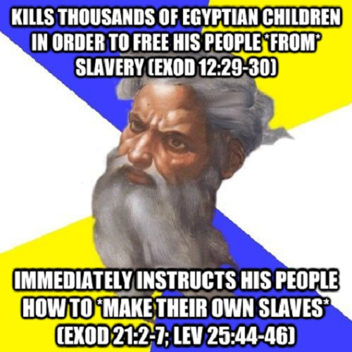 God and Slavery Meme