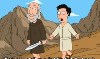 Abraham and Isaac on Family Guy