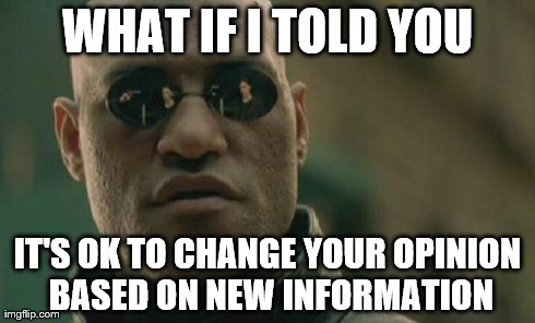 What if I told you new information