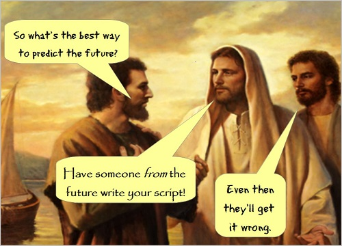 Jesus predicting the future