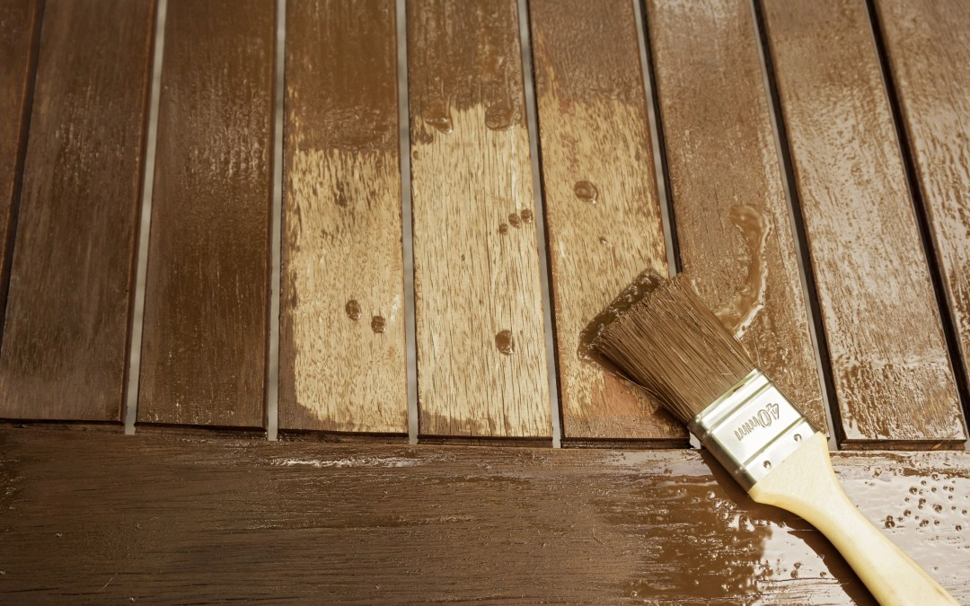 fixing wood stain