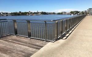 Brisbane Catalina Riverwalk, stainless steel balustrade