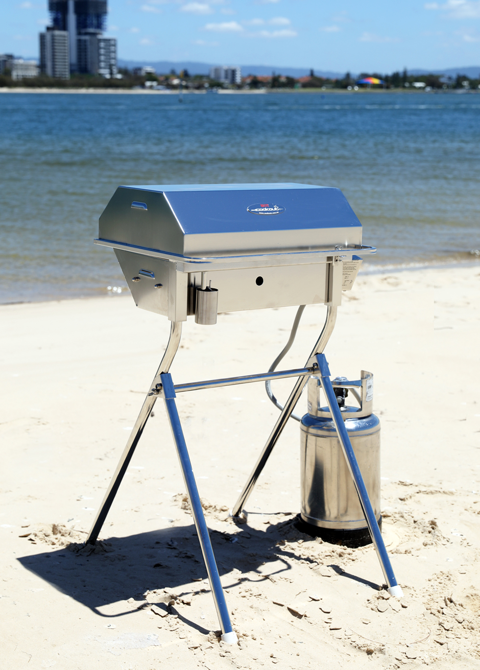 Portable Cookout BBQ Beach Stand