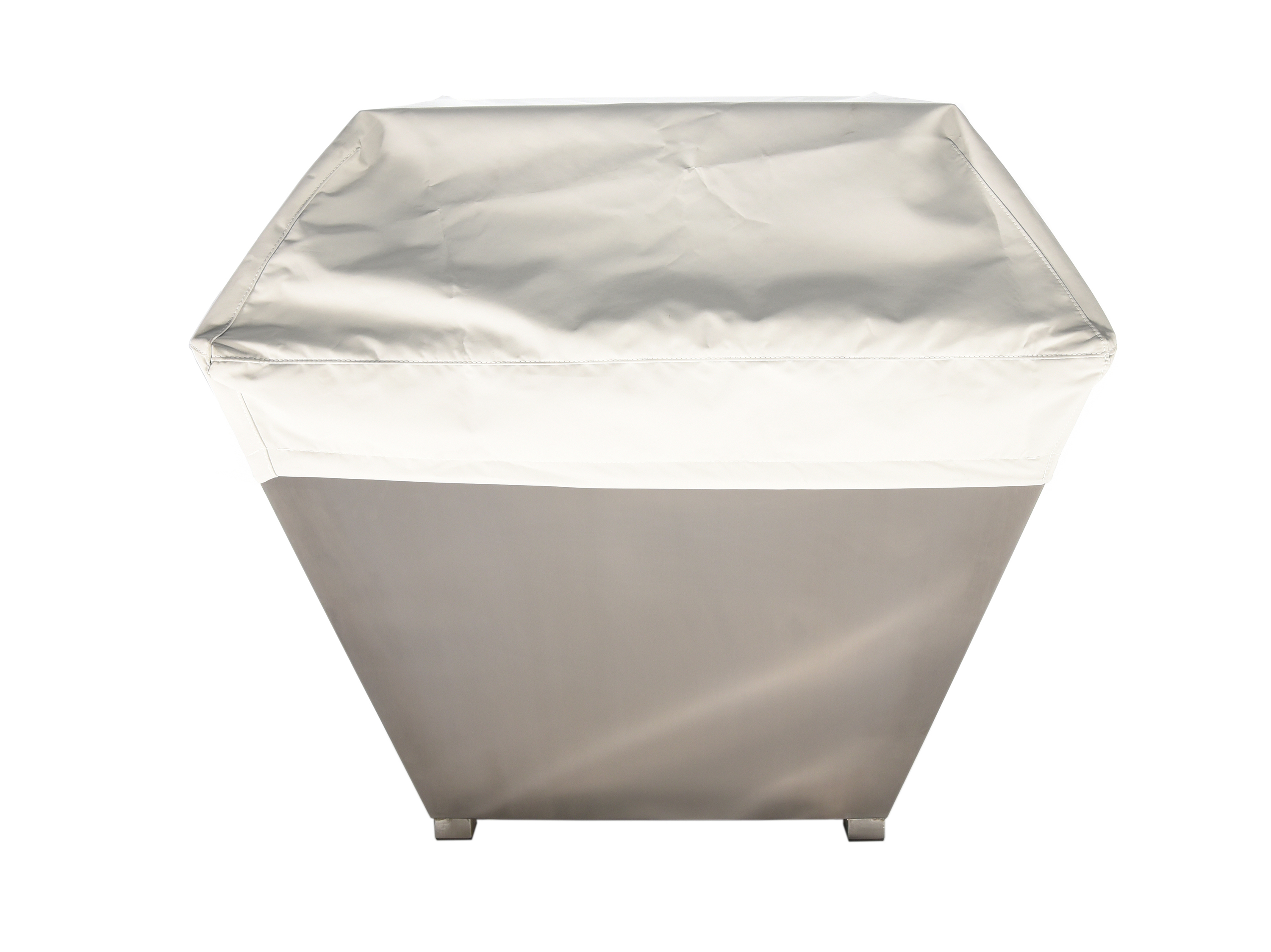 Square gas FirePit with waterproof cover