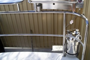 Stainless welded pins for bait board and Cookout BBQ with gas bottle holder