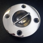 Stainless steel dome tie down for boats