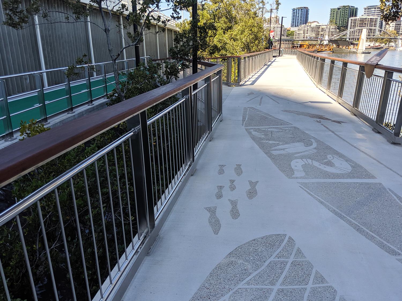 Brisbane Queen's Wharf stainless steel balustrade fabrication