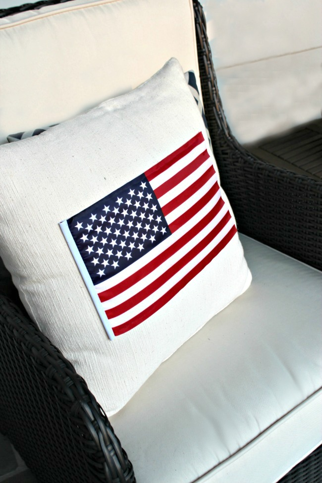 no sew american flag pillow