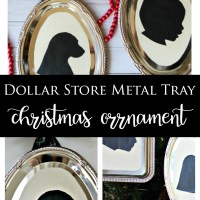 Dollar Store Metal Tray Silhouette Ornament