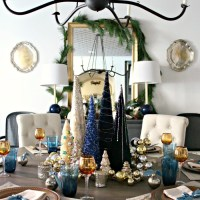 Winter Wonderland Dining Room - A Christmas Tree Centerpiece