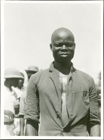 Portrait of a Zande man