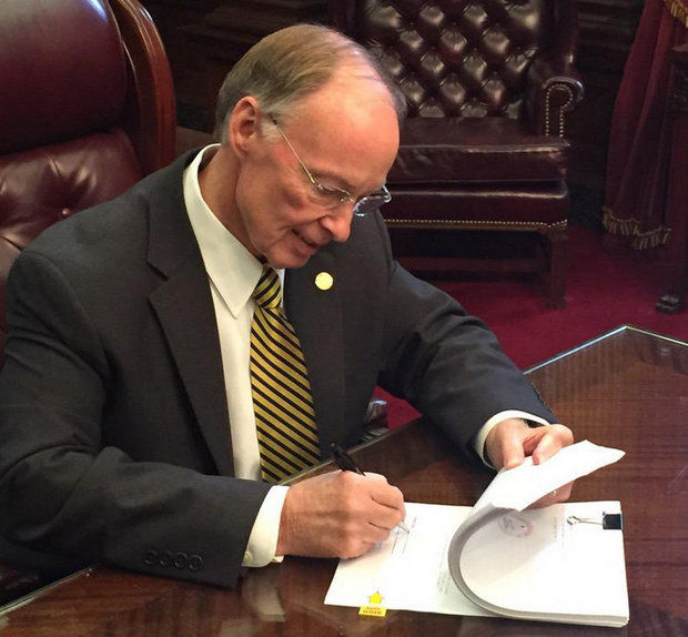 Alabama Gov. Robert Bentley signs 2016 General Fund Budget on Thursday