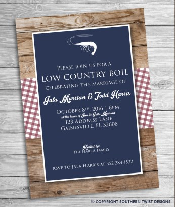 Low Country Boil - Blue Backgron