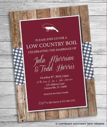 Low Country Boil - Red Backgron