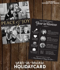Peace & Joy Year In Review Card