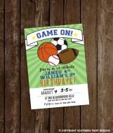 Game On! Birthday Party Invitation