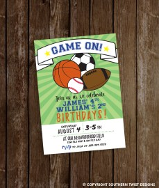 Game On! Birthday Party Invitation