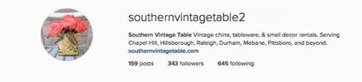 Southern Vintage Table Instagram