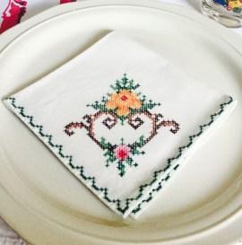 Cross-Stitch Napkin