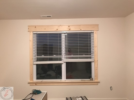 DIY Window Frame Office Renovation