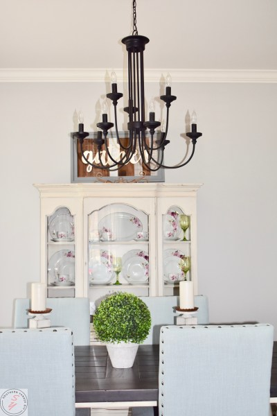 Farmhouse Lighting-Dining room chandelier