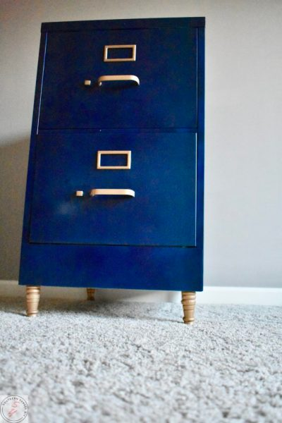 File Cabinet Makeover-From bottom