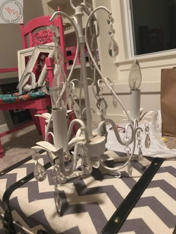 How To Paint A Chandelier The Lazy Girl Way
