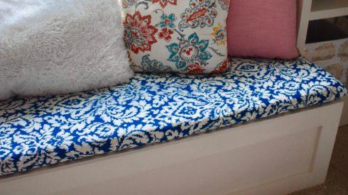 Room Renovation: Office Week 5 DIY Bench Fabric