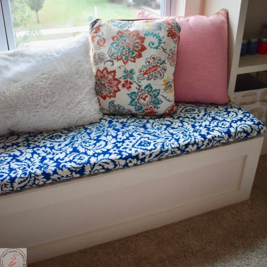 Room Renovation: Office Week 5 DIY Bench Fabric