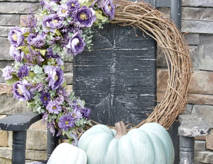 fall decor, fall wreath, front door decor, fall front door wreath, front door wreath, diy wreath, farmhouse wreath idea, wreath for fall, fall wreath, ideas for fall wreath, fall wreath ideas, fall wreath diy, fall flower wreath, flower wreath idea, lavender wreath, purple wreath idea, how to make a bow wreath, diy wired ribbon bow, how to make bow decorations, rustic fall wreath, rustic burlap wreath, burlap wreath for fall, diy burlap projects, fall hydrangea wreath, hydrangeas wreath, fall hydrangea wreaths, hydrangea fall wreath, wreath with hydrangea