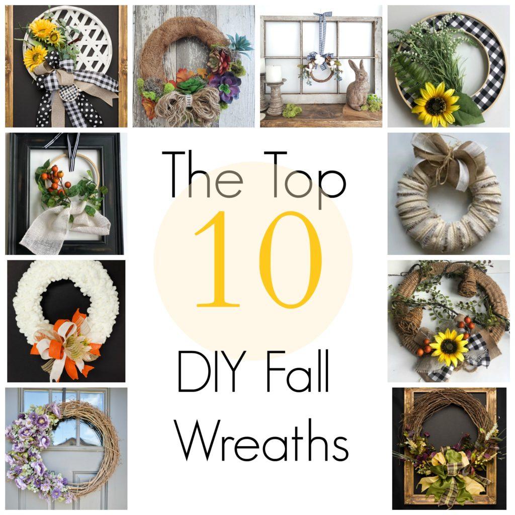 10 DIY Fall Wreaths Roundup