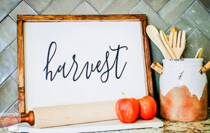 DIY Fall Sign, wood, fall, sign, DIY, harvest, fall sayings, fall sign, painted fall signs, hand painted fall signs, fall farmhouse signs, wooden sign ideas, welcome fall sign, diy fall sign decor, the best fall sign ideas, fall sign ideas, fall kitchen decor, decorating for fall, cheap fall decor ideas,