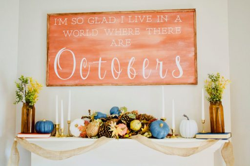 DIY Large Fall Sign. Fall. Sign. Wood Sign. Fall Decor. Favorite Fall Decor. Mantle Decor. Budget Savvy Decor. Best DIY Fall Decor. Wood Sign October. Halloween Decor