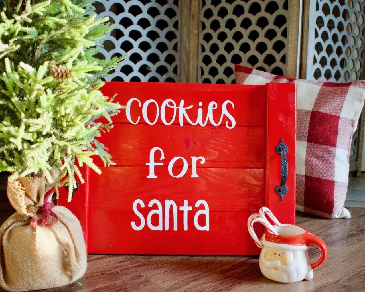 Easy Diy Santa Cookie Tray Southern Yankee Diy