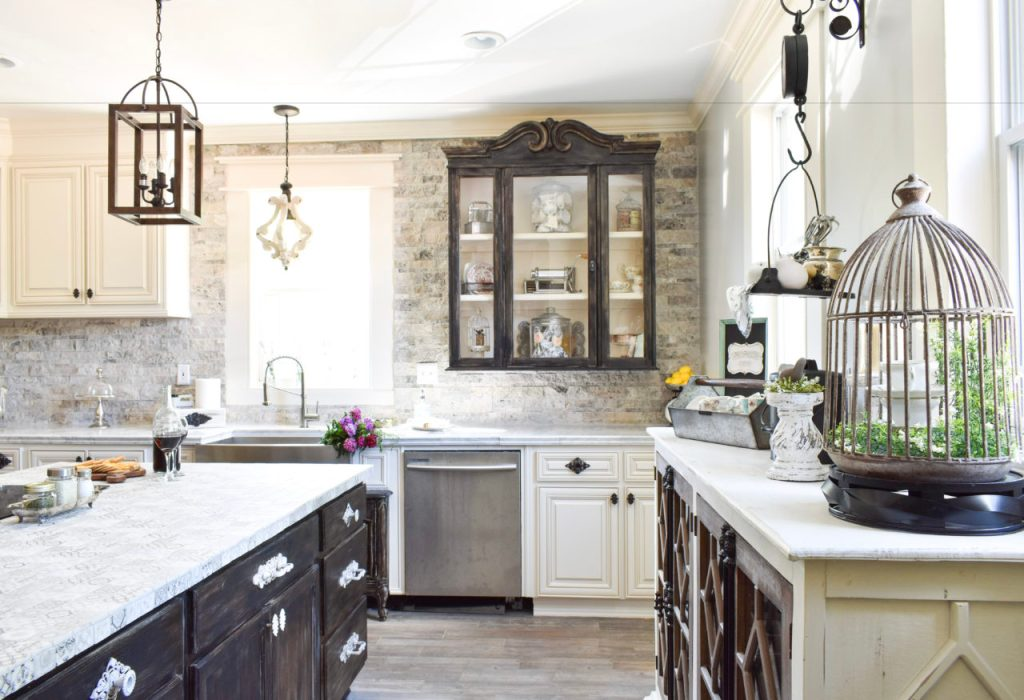 kitchen, kitchen remodel, kitchen renovation, farmhouse kitchen, diy backsplash, diy countertops, modern farmhouse kitchen, farmhouse sink, pendant lighting, kitchen inspiration, kitchen shiplap, open shelving, kitchen cabinets, diy countertops, marble kitchen, diy,