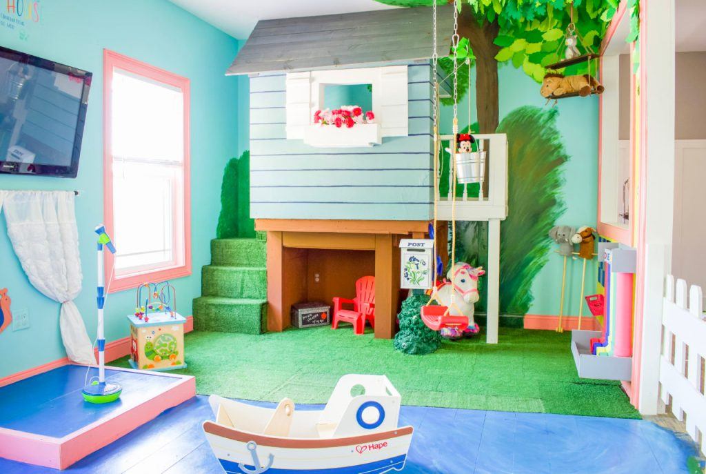 playroom, best playroom ideas, diy playroom, colorful playroom, kids room, budget savvy playroom, organized playroom, toddler playroom, kids playroom ideas, playroom organization ideas, painted flooring, diy book shelves, modern playroom, gender neutral playroom, kids room ideas
