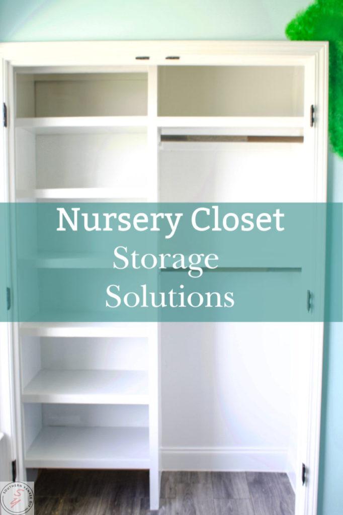 nursery closet, organization, built ins, bookcases, custom closet, nursery closet organization, faux wallpaper, kids closet, kids organization, diy built in closet, diy custom closet, cheap closet organization, amazon, closet bins, closet shelving, diy shelving, cheap shelving, easy shelving, easy closet organization, easy custom closet, easy built ins, kids room, nursery, gender neutral nursery, faux wallpaper diy, boat themed nursery, whimsical theme, Winnie the pooh themed nursery, Valspar paint, Sherwin Williams, nursery mood board, laminate flooring, installing laminate flooring, new flooring